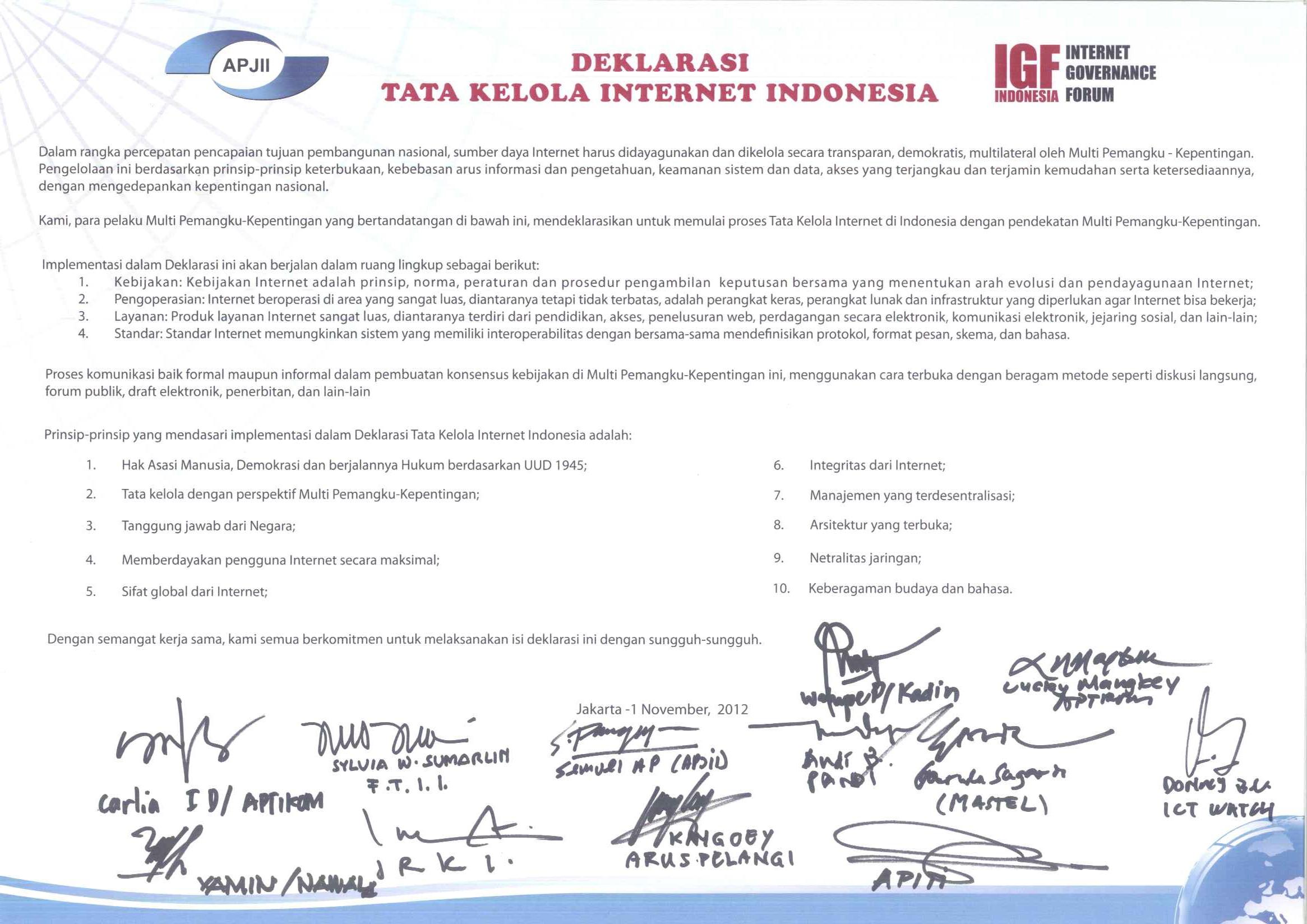 Deklarasi ID-IGF 1